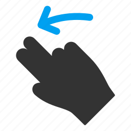 drag, fingers, hand, left, mobile gesture, slide, touch gestures icon