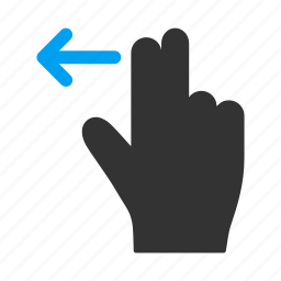 fingers, hand, left, mobile gesture, move, slide, touch gestures icon
