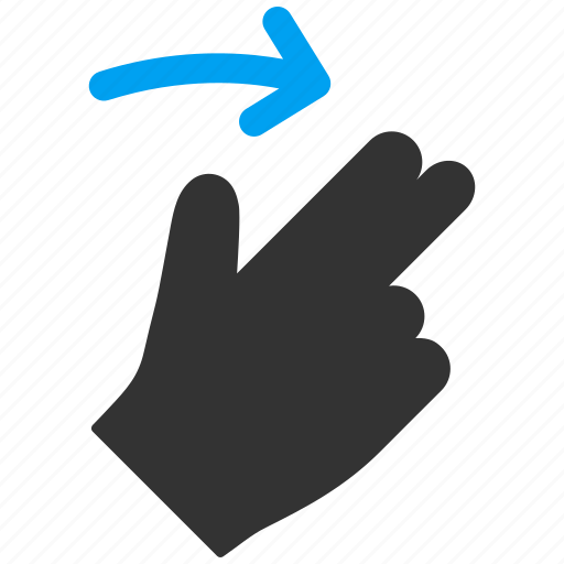 fingers, hand, mobile gesture, right, slide, swipe, touch gestures icon