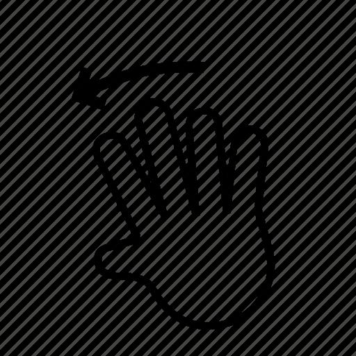 hand, left, slide, swipe icon