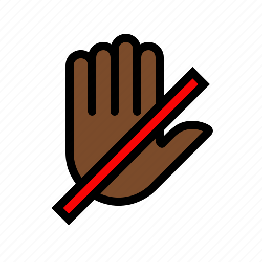 do not push, fingers, gesture, hand, palm, touch icon