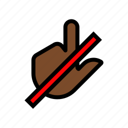 do not touch, finger, gesture, hands off, touch icon