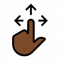 directions, finger, gesture, touch icon