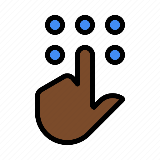 finger, gesture, keypad, pin, touch, touch pad icon