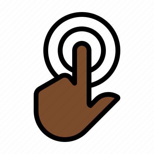 double tap, gesture, tap, touch icon