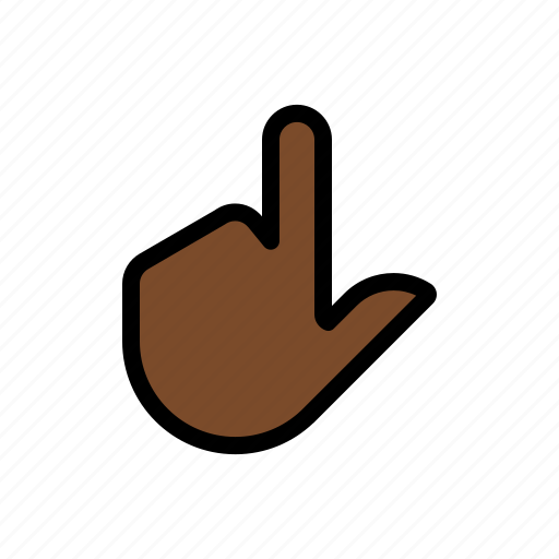 gesture, one finger, point, touch icon