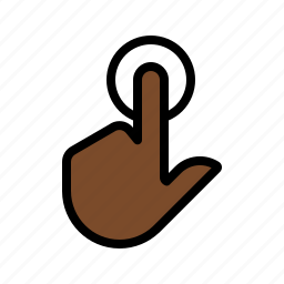 gesture, one finger, single tap, tap, touch, touch screen icon