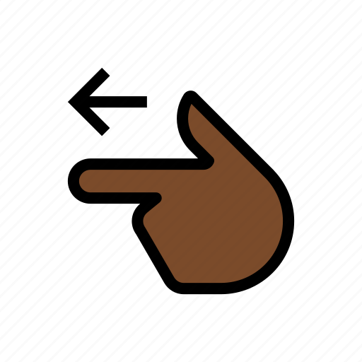 finger, gesture, hand, point left, touch icon