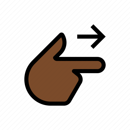 finger, gesture, hand, point right, touch icon