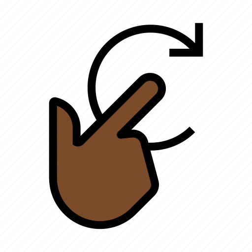 clockwise, gesture, rotate, swirl, touch, twirl icon