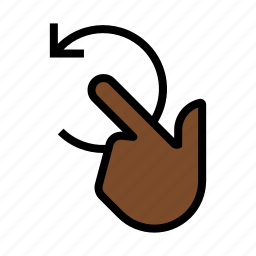 finger, gesture, rotate, swirl, touch icon