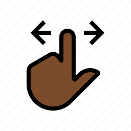 finger, gesture, scroll, scroll left, scroll right, touch icon