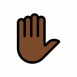 fingers, gesture, hand, palm, stop icon