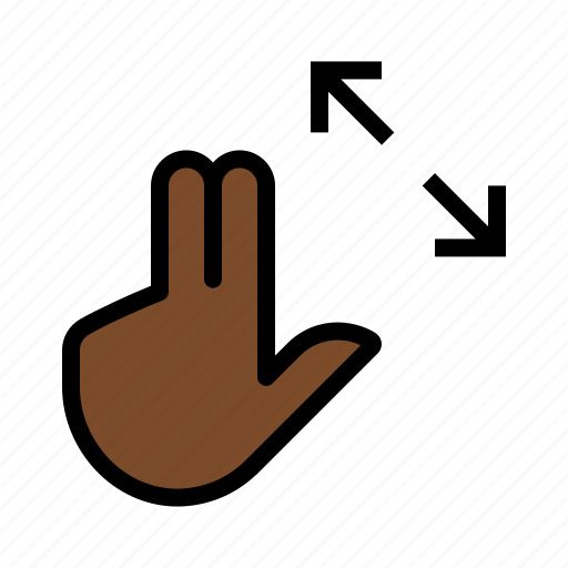 expand, gesture, open, touch icon