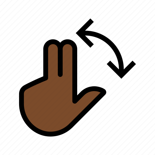 gesture, rotate, three finger, touch icon