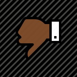dislike, down vote, gesture, thumbs down icon