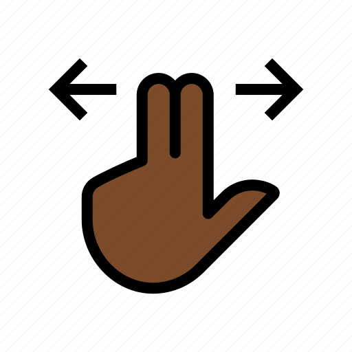 gesture, scroll, swipe, touch, two finger icon