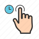 hand, holding, mobile, phone, screen, smartphone, tablet icon