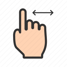 computer, finger, hand, horizontal, laptop, mouse, scroll icon