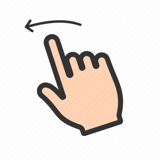 gesture, hand, left, sign, sketch, swipe, technology icon