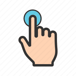 click, cursor, finger, hand, mouse, pointer, tap icon