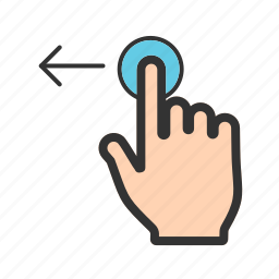 computer, hand, left, move, sign, technology icon