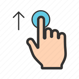 arrow, drag, gesture, slide, swipe, touch, up icon