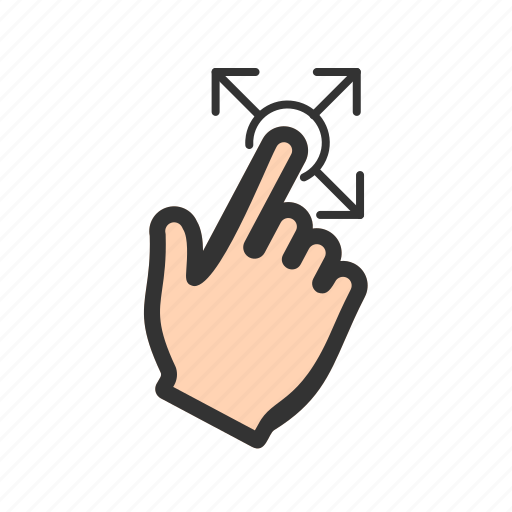 communication, cursor, finger, hand, holding, screen, touch icon
