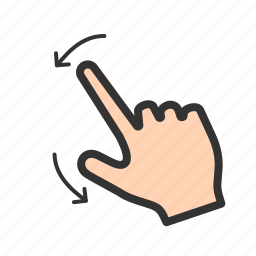 arrow, down, finger, gesture, left, swipe, touch icon