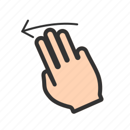 finger, gesture, gestures, hand, left, scroll, swipe icon