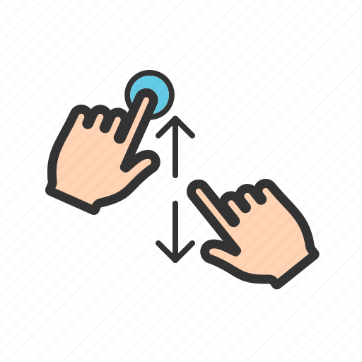 cellphone, finger, hand, mobile, phone, swipe, touch icon