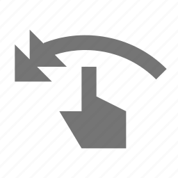 arrow, hand, left swipe, touch gestures icon