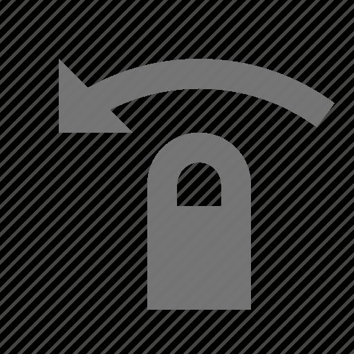 arrow, finger, left swipe, touch gestures icon