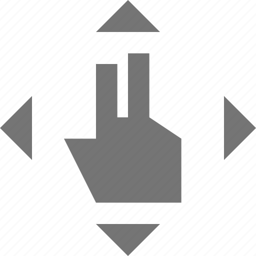 all direction, any direction, hand, touch gestures icon