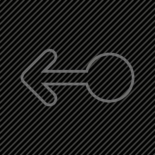 arrow, gestures, left, mobile, screen, single, swipe icon