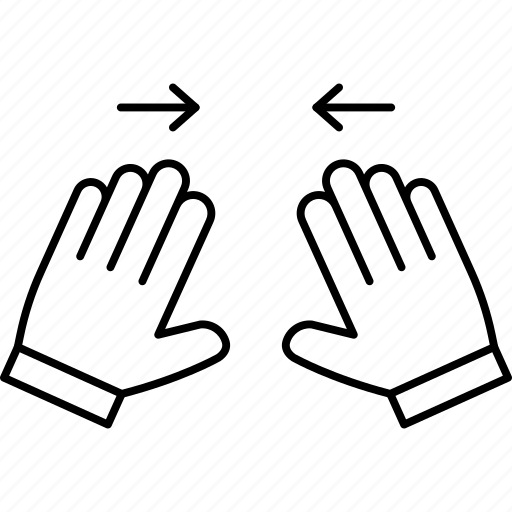 flick, gesture, hand, swipe icon