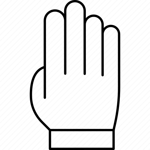 four, gesture, hand, press, tap icon