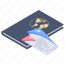 flight ticket, passport, travel, travel pass, travel permit, visa