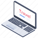 online booking, reservation, ticket booking, travel agency website, travel searching, travel website icon