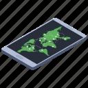 digital map, gps, mobile location, mobile map, online navigation icon
