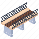 bridge, flyover, overpass, railway bridge, walkway icon