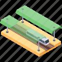 rail road, railway, railway station, railway track, train stop icon
