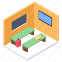 airport lounge, office, reception, waiting area, waiting room icon