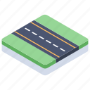 direction, lane, one-way road, pathway, road, street, track icon
