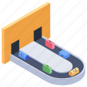 airport security, baggage carousel, baggage check, baggage claim, luggage checking, luggage scanning icon