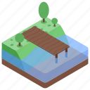 canal, fishing place, outdoor, picnic, pool, water park icon