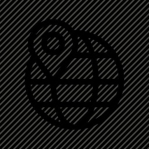 globe, internet, location, map icon