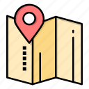hotel, location, map, pin