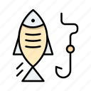 fish, fishing, hook, hunting icon