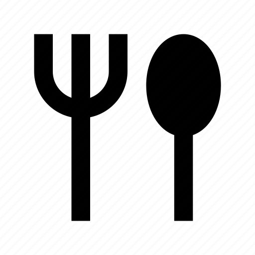 cutlery, eating utensils, fork, spoon, utensils icon